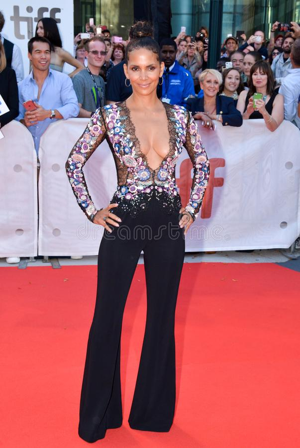 Halle Berry at the `Kings` premiere at toronto international film festival in toronto stock photos
