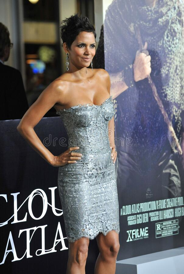 Halle Berry. LOS ANGELES, CA - October 24, 2012: Halle Berry at the Los Angeles premiere of her new movie \'Cloud Atlas\' at Grauman\'s Chinese Theatre royalty free stock photography
