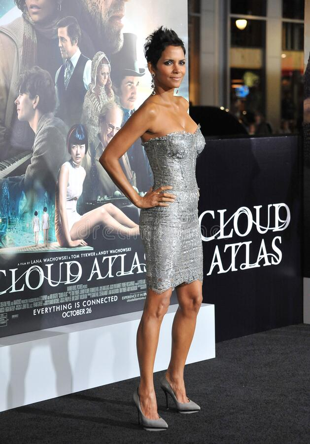 Halle Berry. LOS ANGELES, CA - October 24, 2012: Halle Berry at the Los Angeles premiere of her new movie \'Cloud Atlas\' at Grauman\'s Chinese Theatre stock image