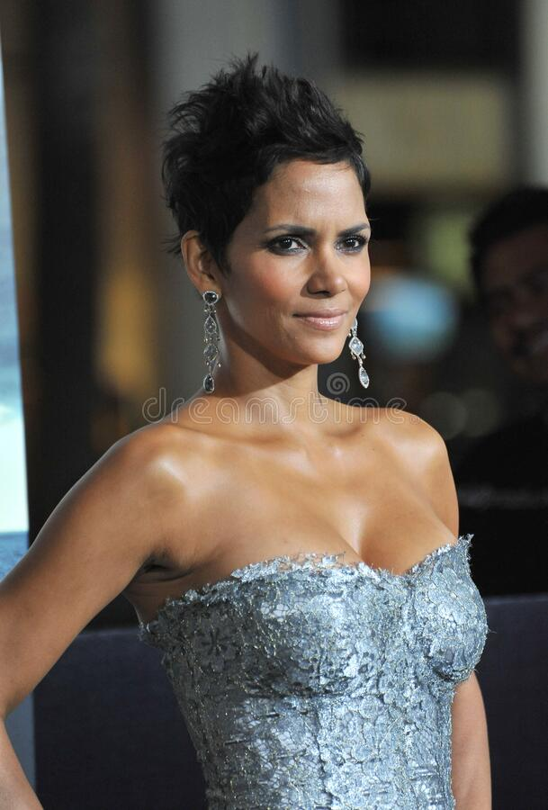 Halle Berry. LOS ANGELES, CA - October 24, 2012: Halle Berry at the Los Angeles premiere of her new movie \'Cloud Atlas\' at Grauman\'s Chinese Theatre stock photography