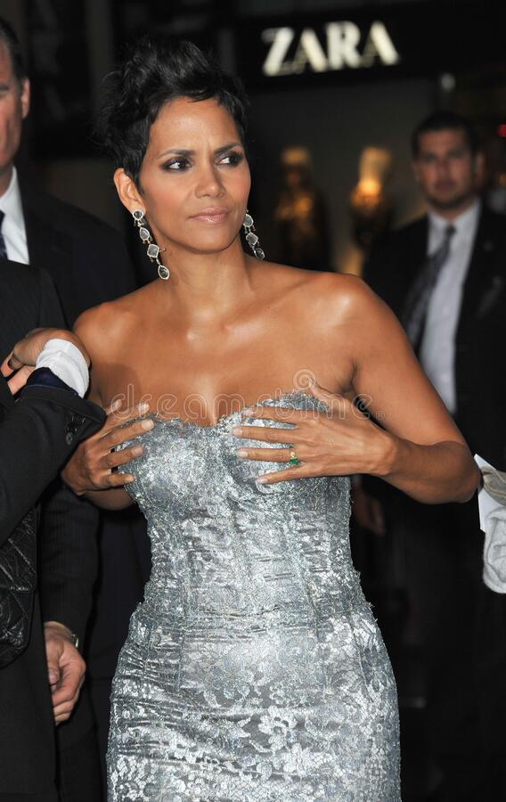 Halle Berry. LOS ANGELES, CA - October 24, 2012: Halle Berry at the Los Angeles premiere of her new movie \'Cloud Atlas\' at Grauman\'s Chinese Theatre royalty free stock image