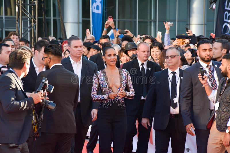 Halle Berry at Toronto international film festival for KINGS premiere stock photography