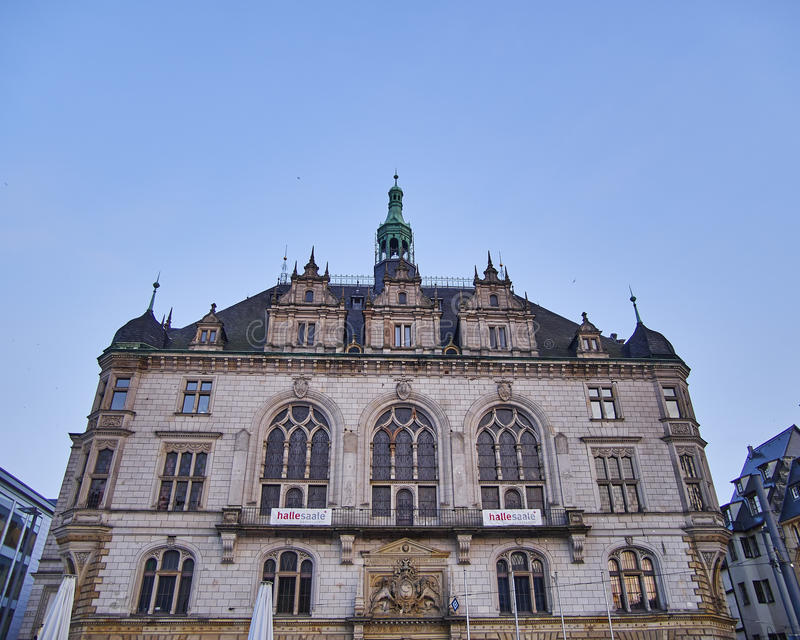 Halle ein der Saale-Rathaus lizenzfreie stockfotografie