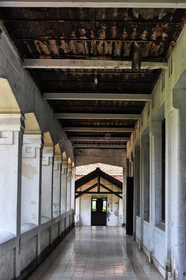 Halle eines Altbaus Gefunden in Semarang, Jawa Tengah - Indonesien stockfotografie