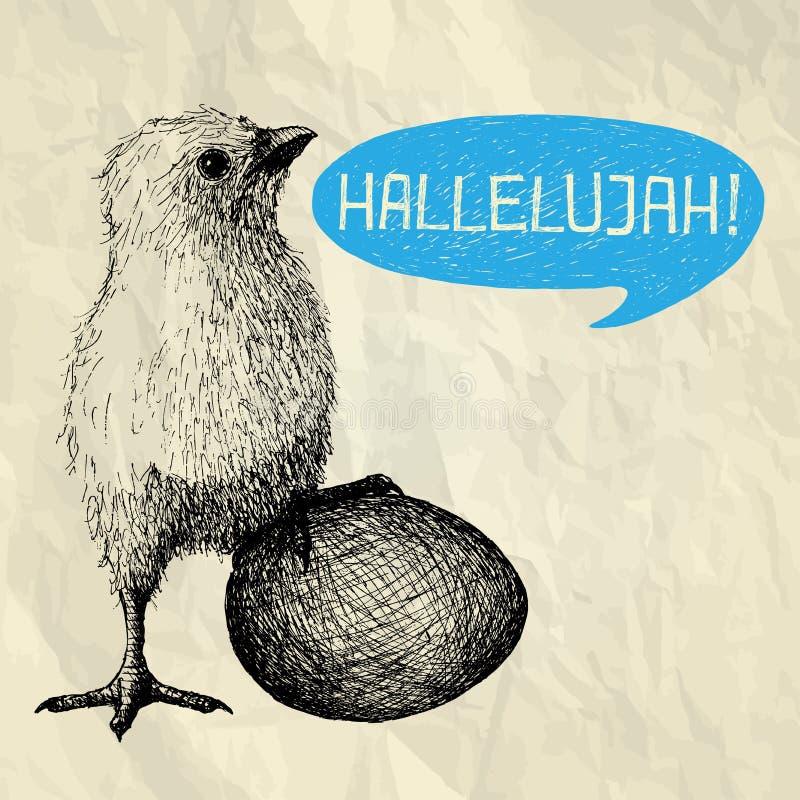 Halleluja - lyckligt påskkort stock illustrationer