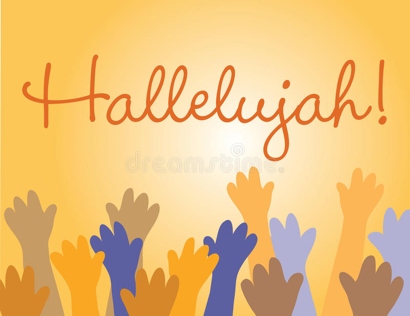 Hallelujah Jesus! royalty free illustration