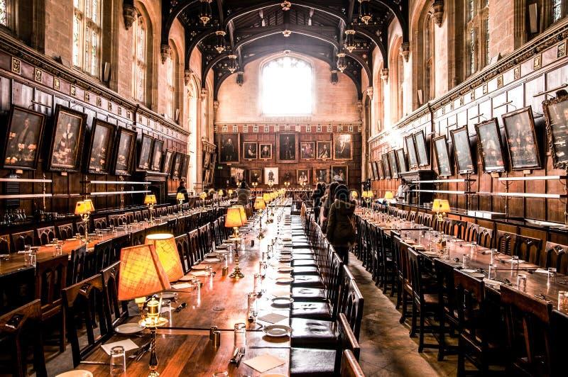 Hallen - kyrklig collage för Kristus - Oxford universitet royaltyfria bilder