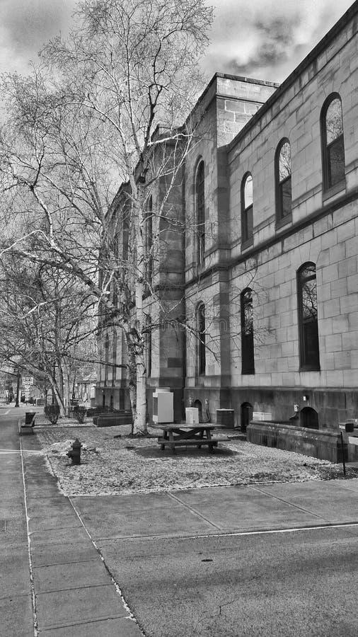 Hallen von Gerechtigkeit Lisbon Ohio Courthouse stockfotografie
