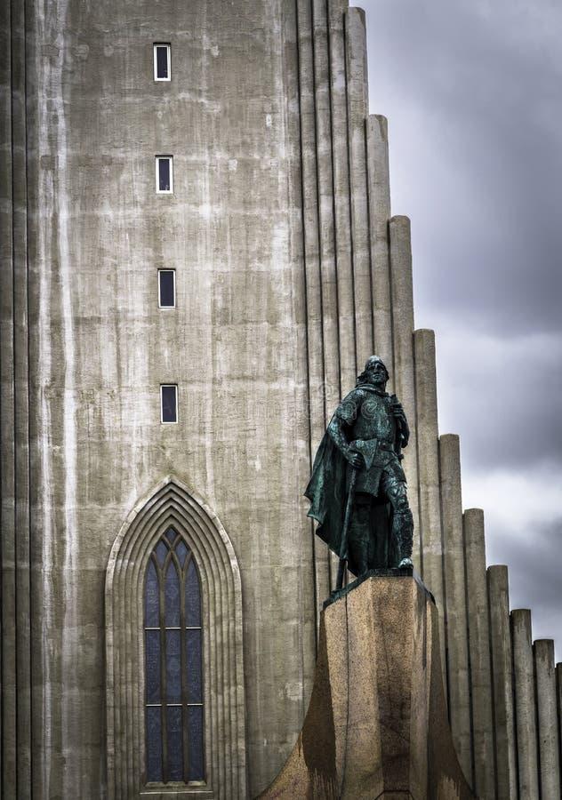 Hallgrímskirkja. The Hallgrímskirkja in Reykjavik on a stormy day royalty free stock photos
