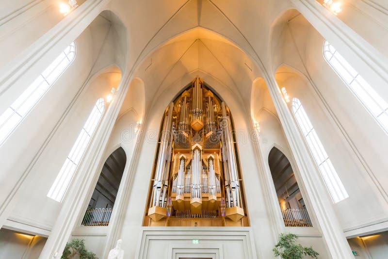 Hallgrimskirkja Cathedral Interior stock photos