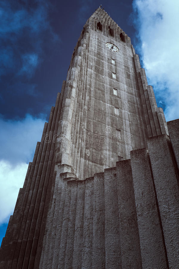 Hallgrimskirkja de Reykjavik fotos de stock royalty free