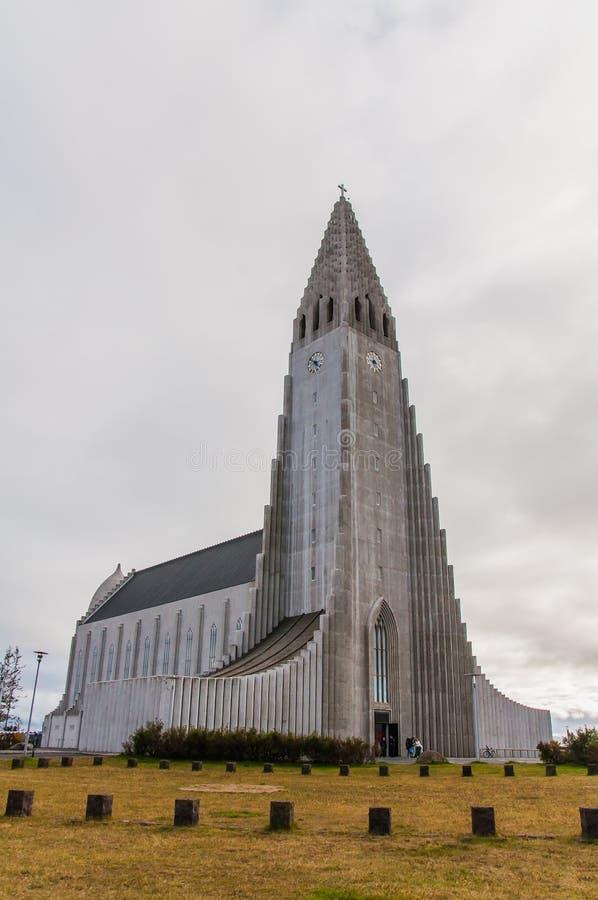 Hallgrimskirkja domkyrka i Reykjavik, Island arkivfoto