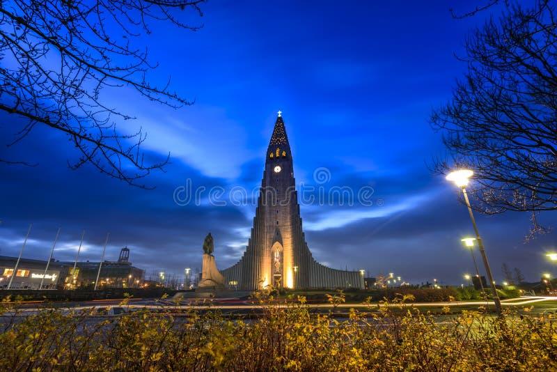 Hallgrimskirkja katedra zdjęcia royalty free