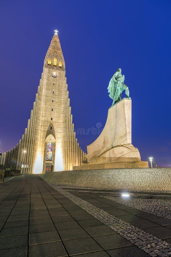 Hallgrimskirkja katedra obraz royalty free