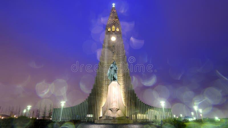 Hallgrimskirkja-Kathedrale stockfotos