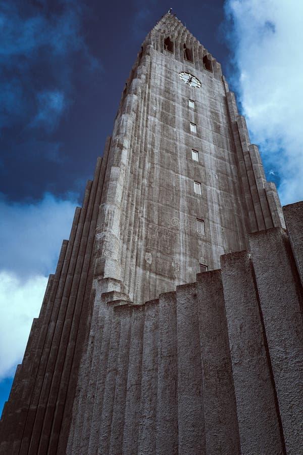 Hallgrimskirkja van Reykjavik royalty-vrije stock foto's