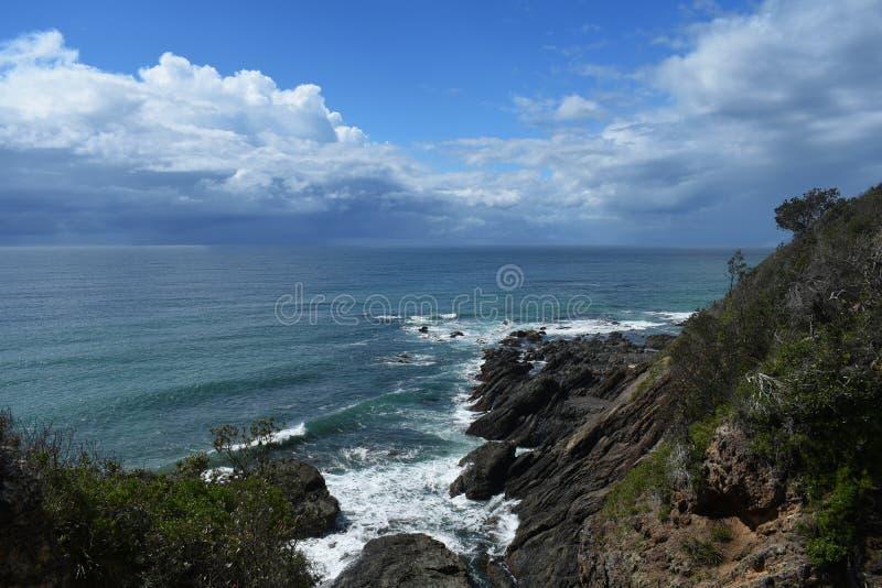 Hallidays Point Australia. Two ocean storms off the coast of Hallidays Point Australia royalty free stock photos