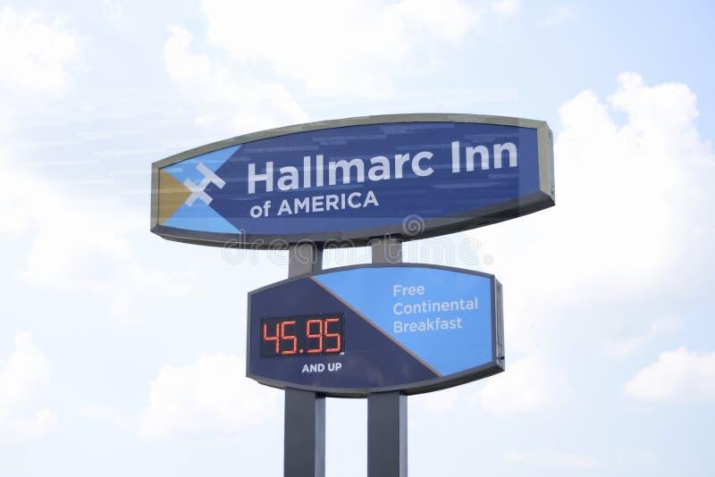 Hallmarc-Gasthaus von Amerika, Marion, Arkansas lizenzfreies stockfoto