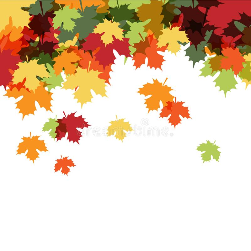 Hallo Autumn Beautiful Decorative Background lizenzfreie abbildung