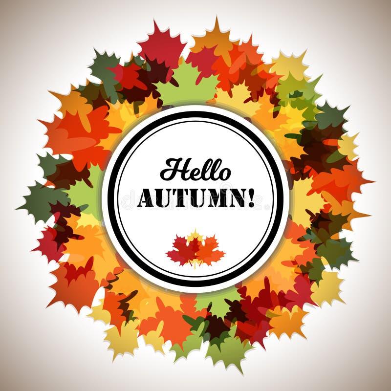 Hallo Autumn Decorative Ring Frame lizenzfreie abbildung