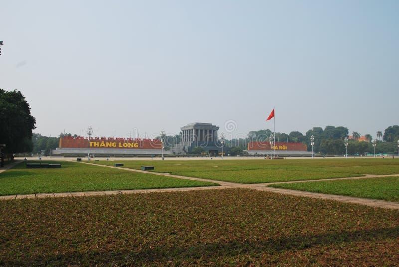 Hallo Chi Minh Mausoleum, Hanoi, Vietnam stock foto's