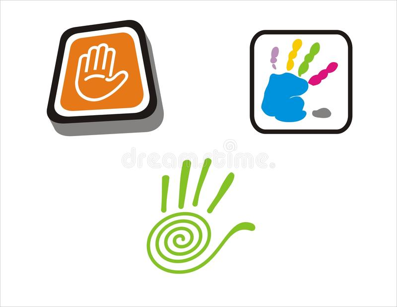 Hallo-Fünf Hände lizenzfreies stockbild