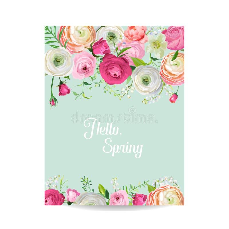 Hallo Frühlings-Blumenkarte Für Feiertags-Dekoration Hochzeits ...