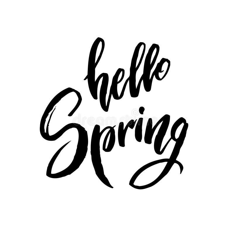 Hallo Frühlingszitat lizenzfreie abbildung
