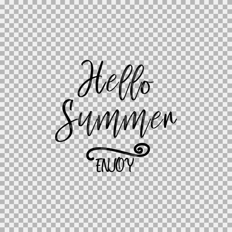 Hallo genießen Sommer Transparenter Hintergrund stockfotos