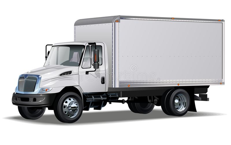 Hallo-Hi-detailed commerciële vrachtwagen stock illustratie