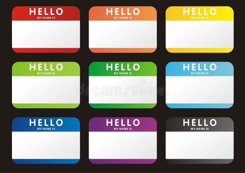 Hallo ist mein Name stock abbildung