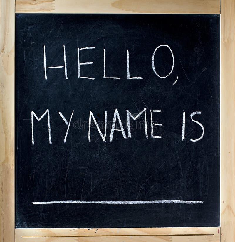Hallo ist mein Name stockbilder