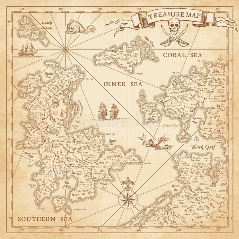 Hallo Kaart van de detail de Vectorschat royalty-vrije illustratie