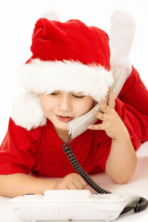 Hallo, Kerstman! royalty-vrije stock afbeeldingen