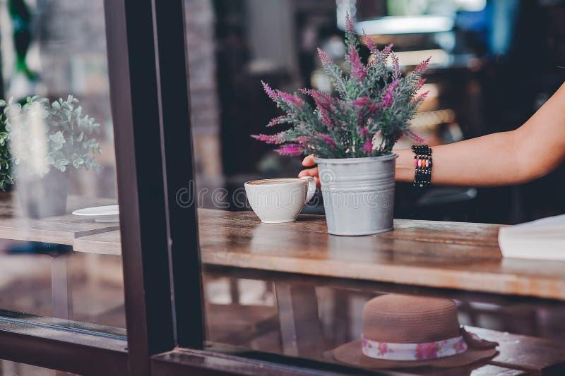Hallo morgens mit aromatischem Liebeskaffee des Kaffees I mag ich t lizenzfreies stockfoto