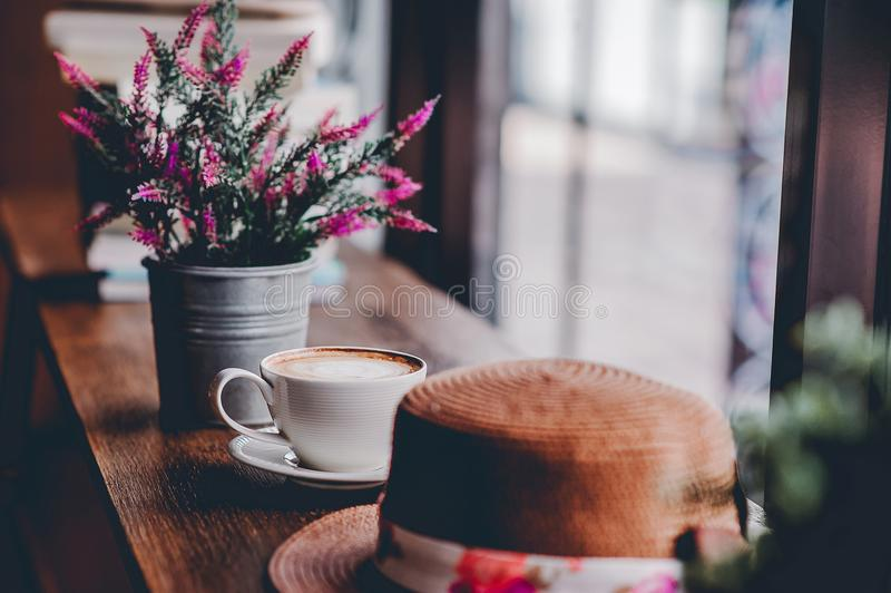 Hallo morgens mit aromatischem Liebeskaffee des Kaffees I mag ich t stockfotos