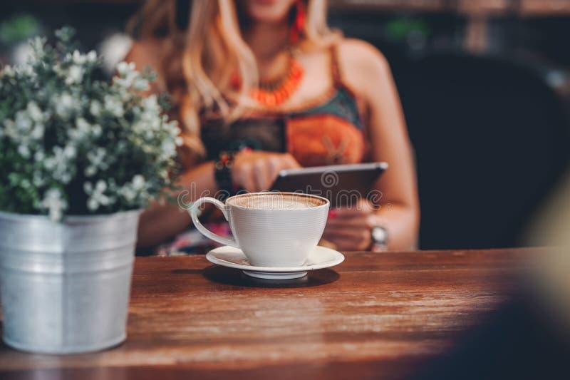 Hallo morgens mit aromatischem Liebeskaffee des Kaffees I mag ich t stockbilder