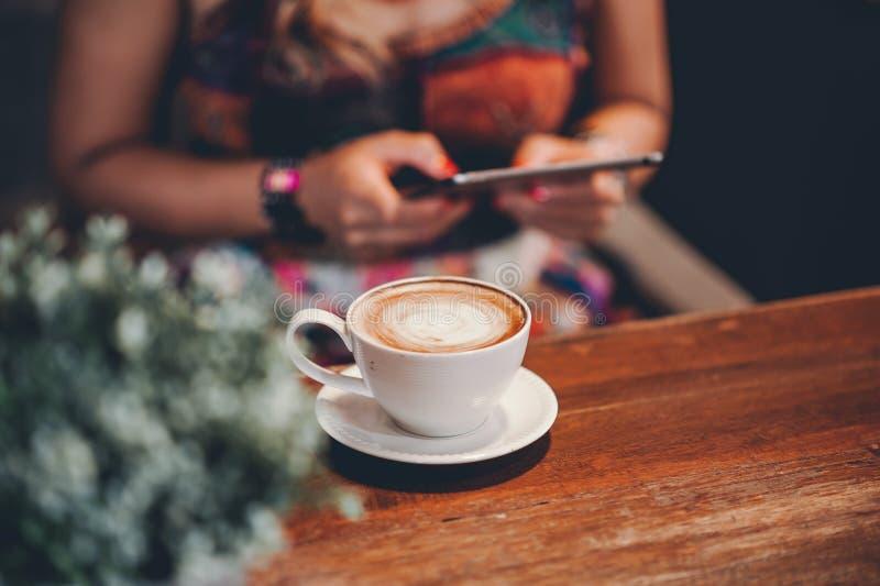 Hallo morgens mit aromatischem Liebeskaffee des Kaffees I mag ich t stockfoto