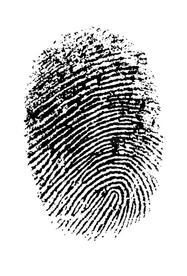 Hallo Onderzoek Thumbprint vector illustratie