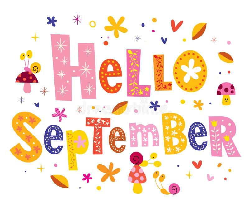 Hallo September stock abbildung