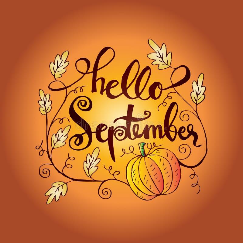 Hallo September vektor abbildung