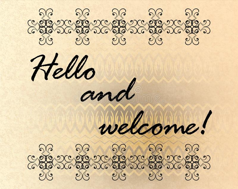 Hallo und Willkommen lizenzfreie abbildung