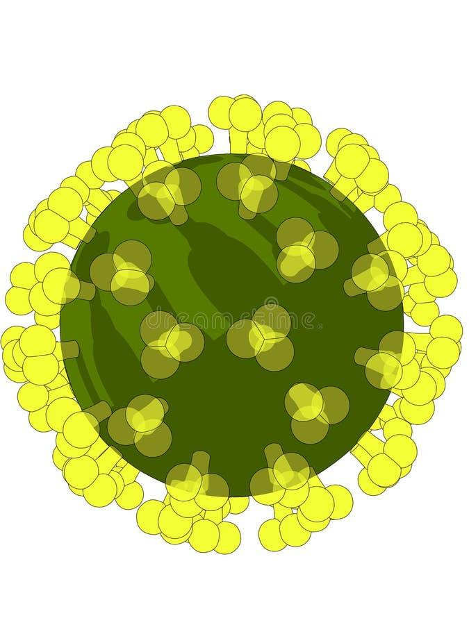 Hallo virus royalty-vrije illustratie