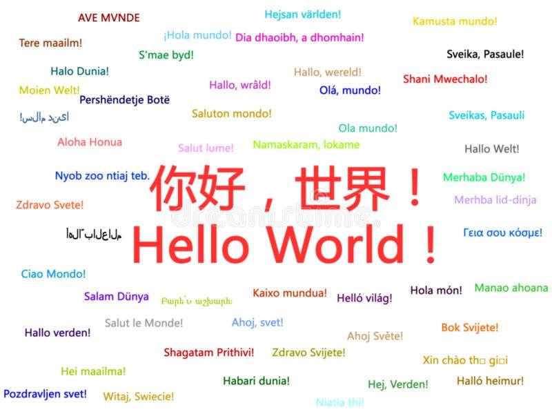 Hallo Welt lizenzfreie abbildung