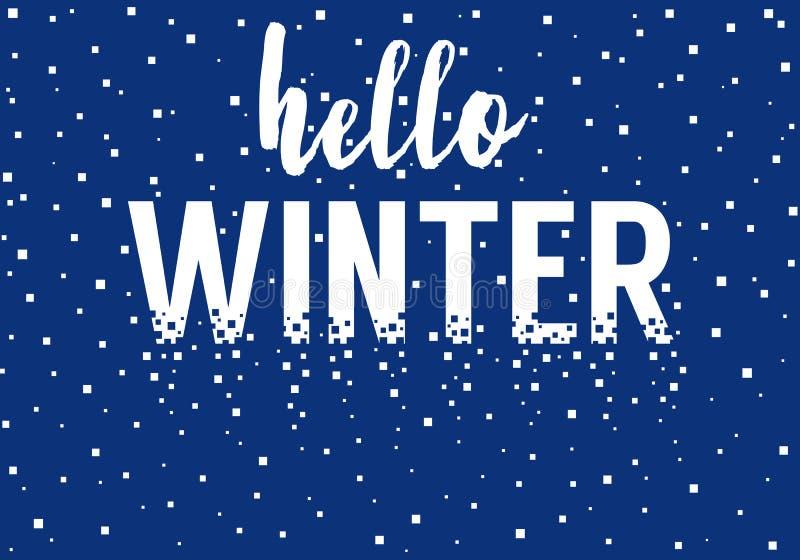 Hallo Winter, Vektorhintergrund vektor abbildung