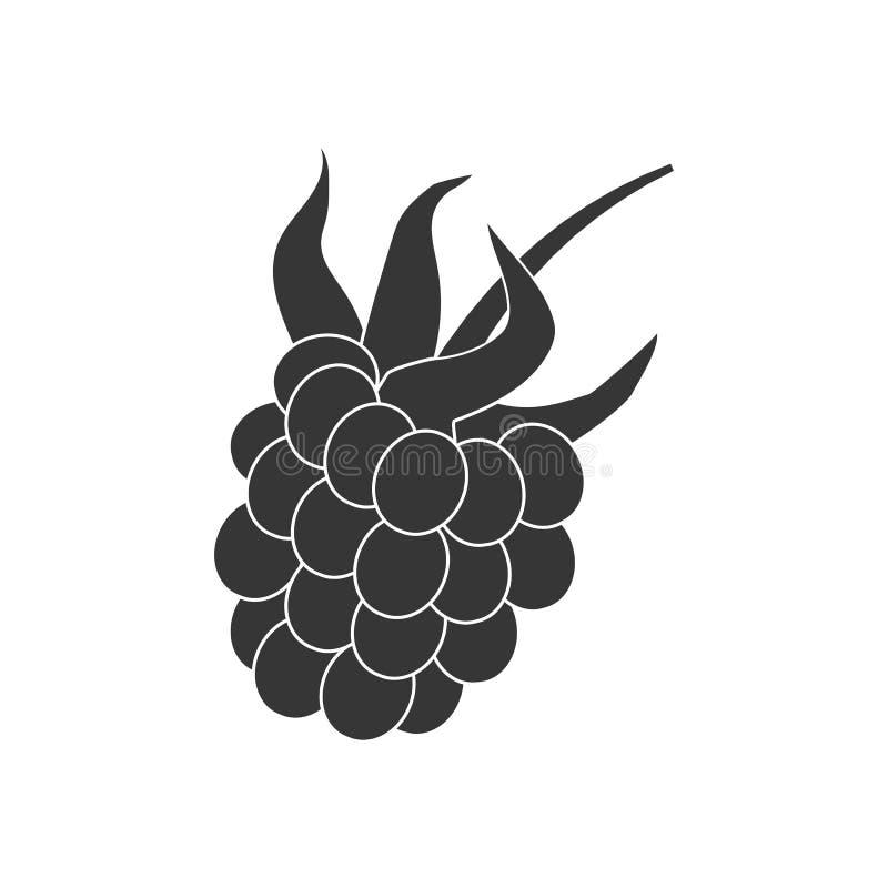 Hallon Berry Icon vektor illustrationer