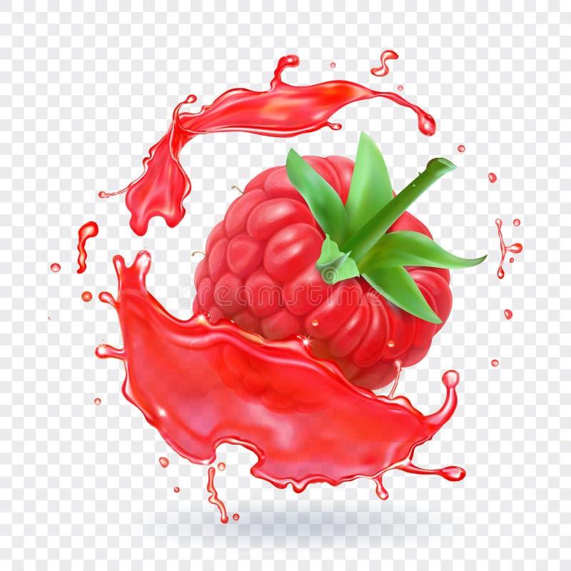 Hallon i bärfruktsaftfärgstänk också vektor för coreldrawillustration royaltyfri illustrationer