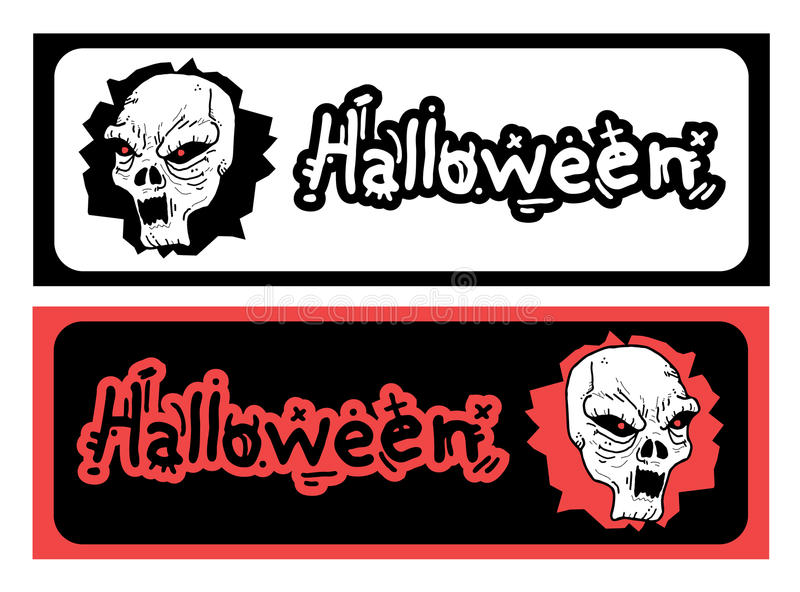 Download Hallooween duo card stock vector. Image of evil, fear - 32211030
