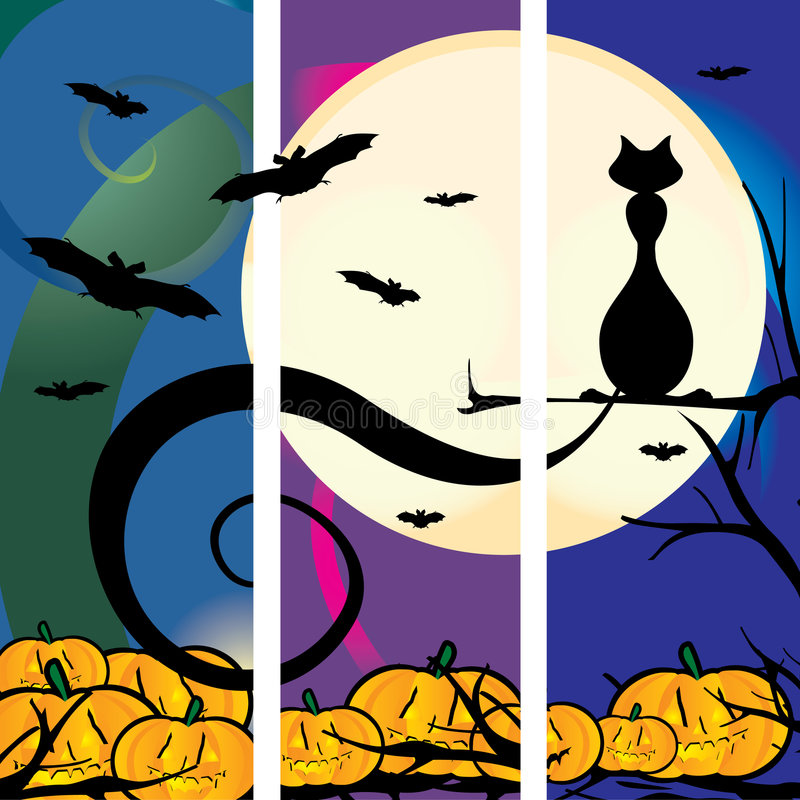 Halloveen Cat royalty free illustration