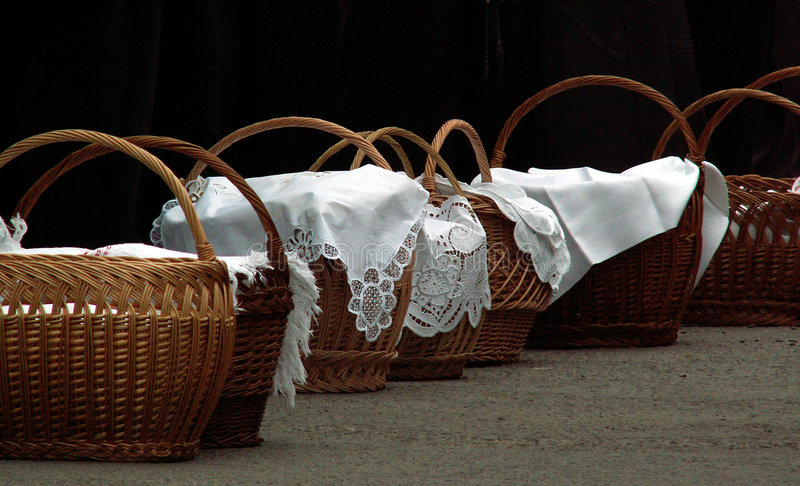 Download Hallowed Meal Baskets Stock Photography - Image: 150332